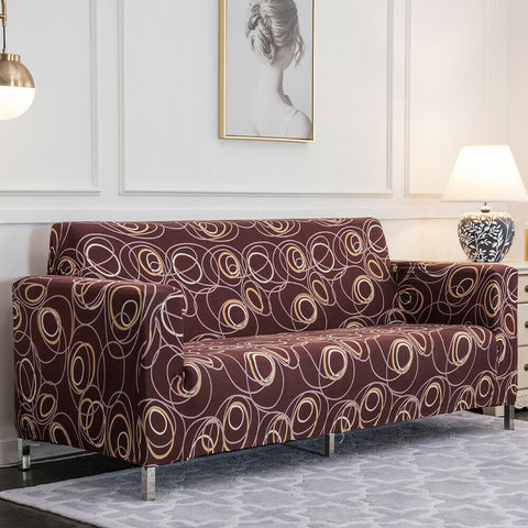 LinenFit Slipcovers - Brown Circles