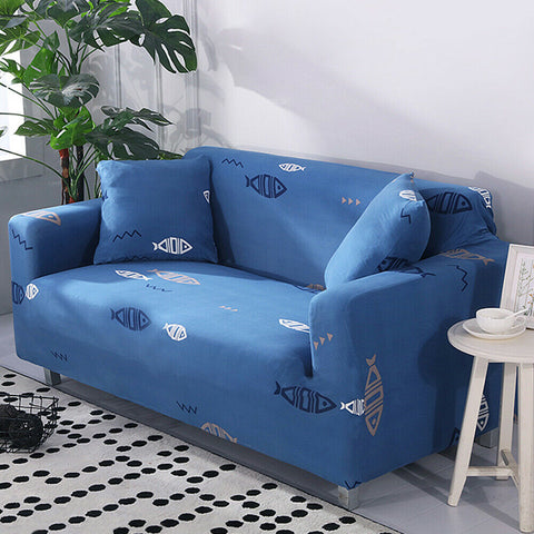 LinenFit Slipcovers - Blue Fish