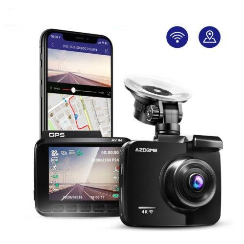 Dash Camera with front and rear car camera and in car security recording camera