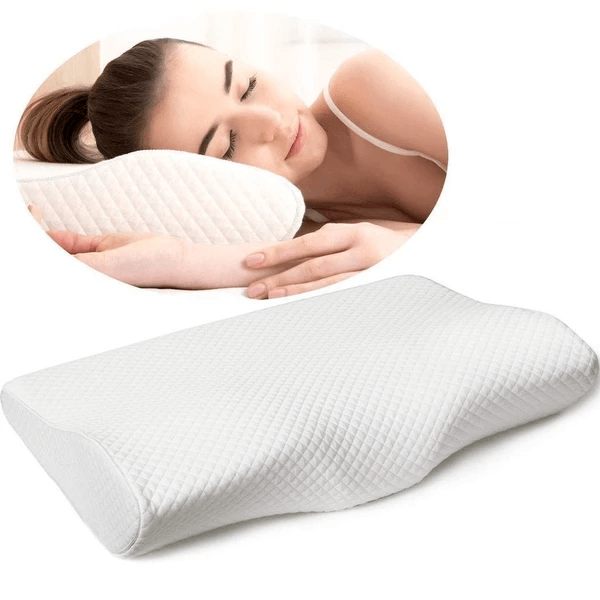 Contoured Pillow neck and cervical pain relied with memory foam