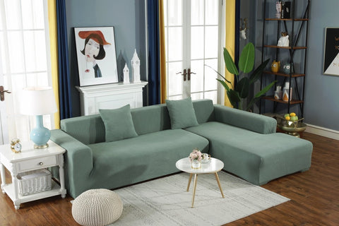 LinenFit Textured Slipcover Fern Green