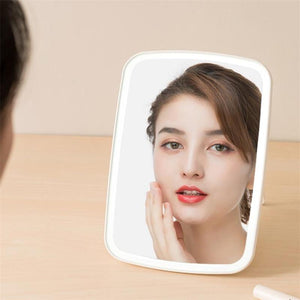 Led Vanity Makeup Mirror with Led Lights - Bathroom magnifying Travel - travel white - redepicdeals