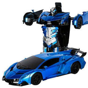RC Remote Control Transforming Robot Sports Car Toys Stands Up - Ultra Sensing Transformer car - redepicdeals