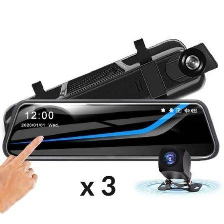 Wireless Dashcam Front and Rear HD Car Mirror Camera