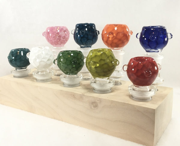 18mm Honeycomb Flower Pot Slide with clear marbles - SGS - The Breakfast Bowl