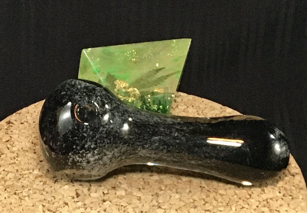 Black and Grey Frit Hand Pipe - SGS - SGS