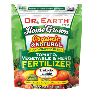 Dr. Earth Organic and Natural Home Grown Tomato, Vegetable, & Herb Fertilizer