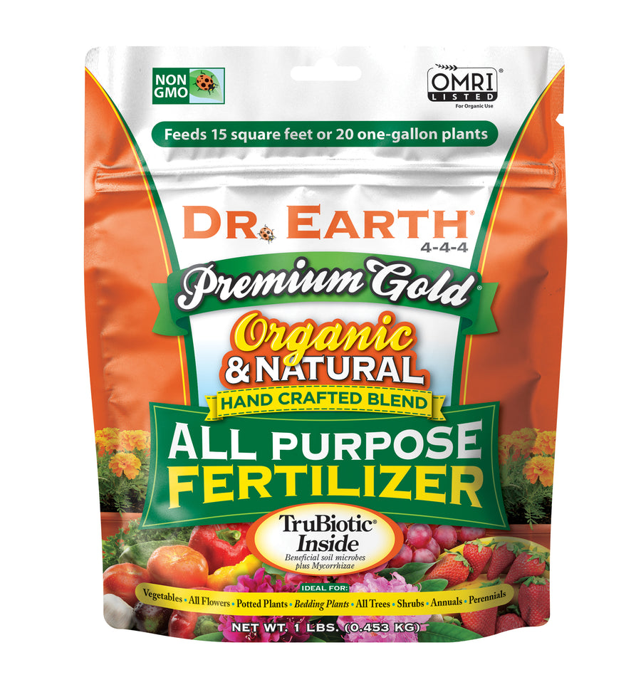 Dr. Earth All Purpose Fertilizer 4-4-4 1LB