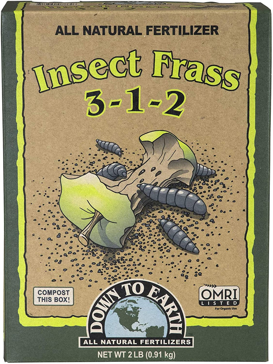Down To Earth Insect Frass Fertilizer 3-1-2 2LB