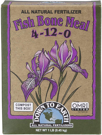 Down to Earth Organic Fish Bone Meal Fertilizer Mix 4-12-0 1LB