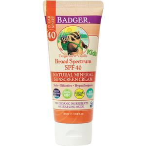 SPF 40 Kids Clear Zinc Sunscreen Cream 2.9oz