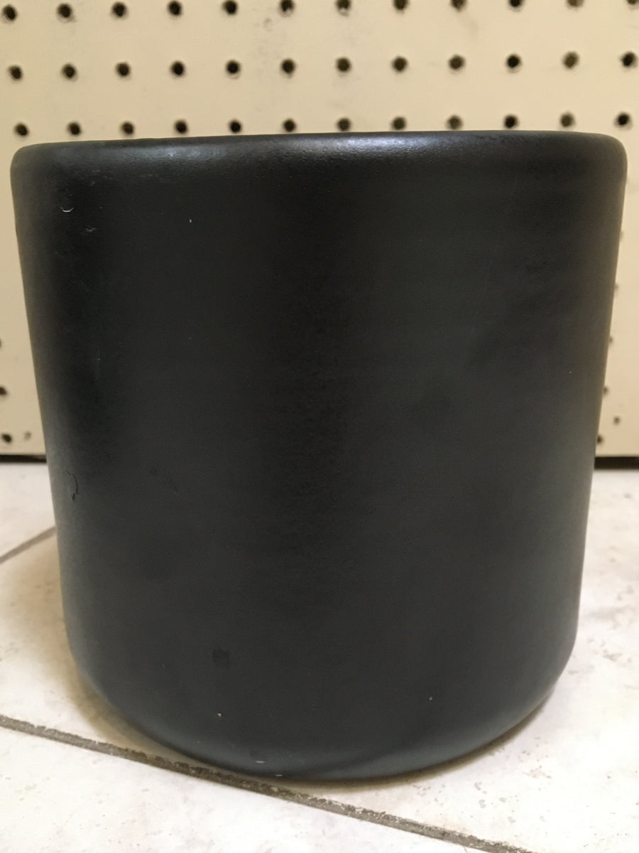 "6"" Deep Cylinder Matte Black Pot"