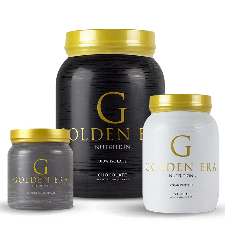 Golden Era Nutrition Black, White, and Gray Exercise and Fitness Supplements