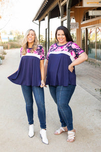 Midnight Rose Colorblock Top