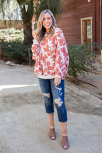 Load image into Gallery viewer, Vintage Floral Reversible Pullover