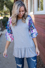 Load image into Gallery viewer, Believe In Yourself Ruffle Sleeve Top