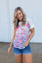 Load image into Gallery viewer, Pretty As A Flower Short Sleeve Top
