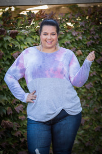 Pink Sunset Front Twist Top