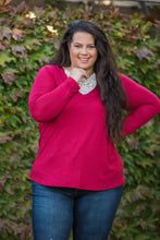 Load image into Gallery viewer, Entwined With You Long Sleeve Top in Red
