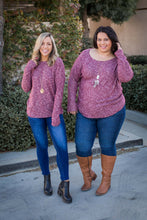 Load image into Gallery viewer, Merlot Nights Open Back Sweater