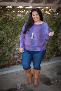 Purple Haze Long Sleeve Dolman