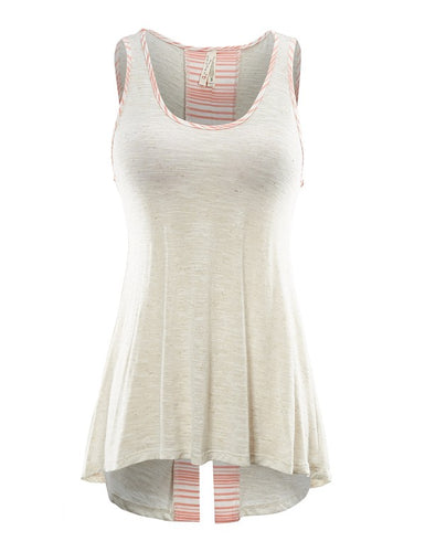 Oatmeal Tank Top with back detail