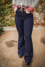 Load image into Gallery viewer, Daydreaming Dark Denim Flare Jeans