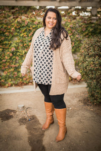 Neutral Spirit  Popcorn Cardigan