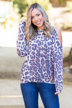 Load image into Gallery viewer, Roaring Around Cold Shoulder Pullover