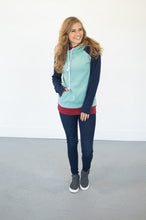 Load image into Gallery viewer, Seafoam Color Block Hoodie