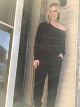 Load image into Gallery viewer, Batwing Black Jumpsuit