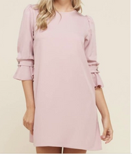 Load image into Gallery viewer, Ruffle Sleeve Pink Dress