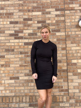 Load image into Gallery viewer, Black Fitted Knit dress