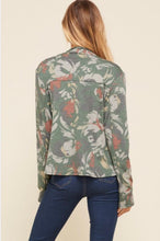 Load image into Gallery viewer, Floral cascade front jacket