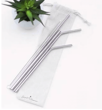 Load image into Gallery viewer, Reusable straw set- Multiple colors
