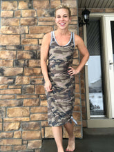 Load image into Gallery viewer, Racerback Camo dress