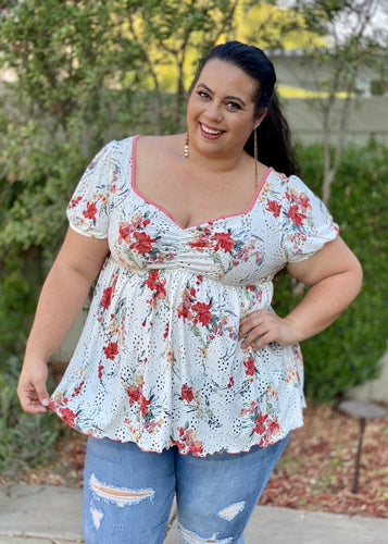 Frolicky Floral Babydoll Top
