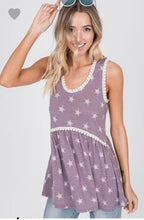 Load image into Gallery viewer, Purple Star racerback tank