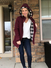 Load image into Gallery viewer, Maroon Jacket with plaid lining