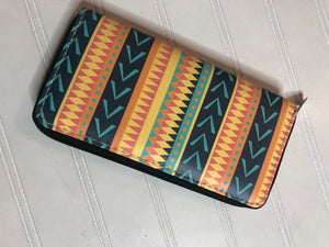 Multicolor stripe wallet