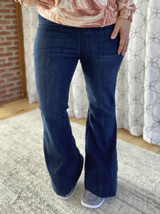Navy and Red knit plaid buttondown