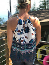 Load image into Gallery viewer, Halter border print tank