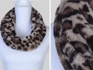 Animal Print faux fur scarf
