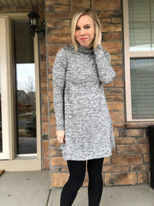 Grey Turtleneck sweater dress