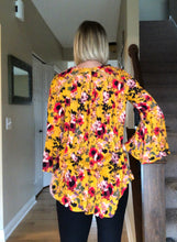 Load image into Gallery viewer, Mustard Floral  blouse