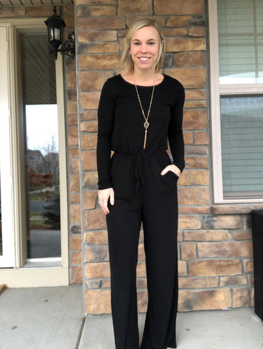 Longsleeve black jumpsuit