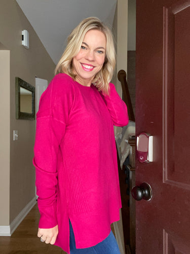 Fuchsia sweater tunic