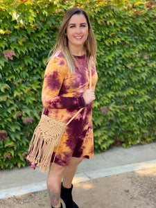 Crimson Gold Fishtail Dress