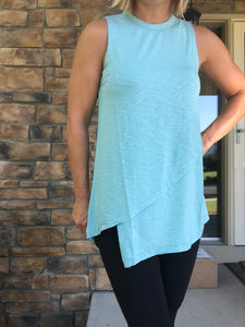 Asymmetrical Teal tank