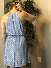 Load image into Gallery viewer, Blue Polka dot dress